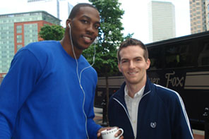 Matt Raymond with Dwight Howard