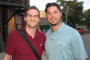 Matt Raymond with Josh Beckett