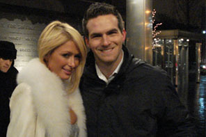 Matt Raymond with Paris Hilton