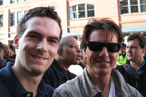 Matt Raymond with Tom Cruise