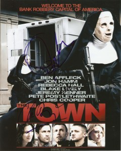 The Town 8x10 signed by Affleck, Renner and Hogan