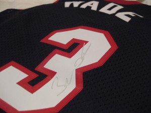 Dwyane Wade autographed jersey