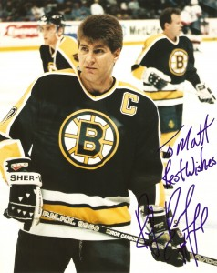 Ray Bourque autographed 8x10