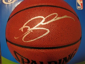 Ray Allen autographed basketball
