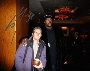 Shaquille O'Neal autographed picture with Matt Raymond
