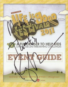 Ray LaMontagne autographed program