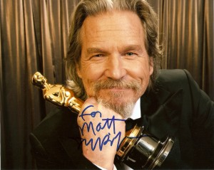 Jeff Bridges autographed 8x10