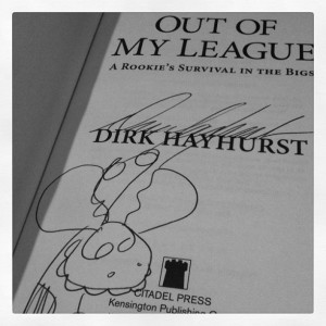 Autographed copy of Out of My League