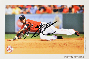 Dustin Pedroia autographed photo